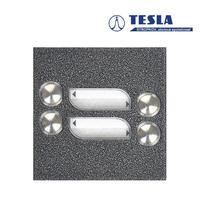 Tesla KARAT stříbrný 4 příd. tlačítka, 2 BUS