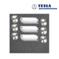 Tesla KARAT stříbrný 6 příd. tlačítek, 2 BUS