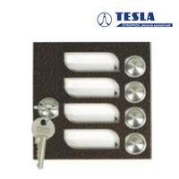 Tesla KARAT měděný 4 příd. tlačítka 1 ř., 2 BUS Z