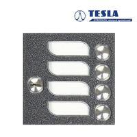 Tesla KARAT stříbrný 4 příd. tlačítka 1ř., 2 BUS Z