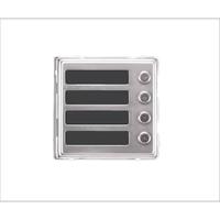 Dveřní telefon Brave modul NC 4 tlačítka
