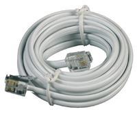 Telefonní kabel 5m bílý