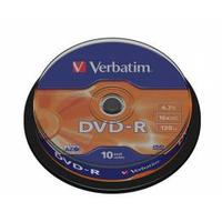 Verbatim DVD-R Matt Silver 10 ks spindle
