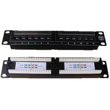 "Patch panel 10"" UTP cat.5e 12 x 8P8C - 1"