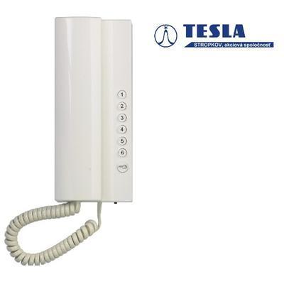 Tesla Elegant bílý 1 + 6 tlačítek - 2 BUS - 1