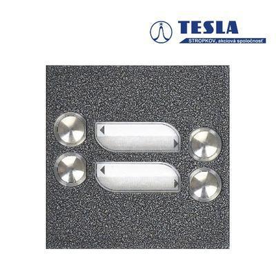 Tesla KARAT stříbrný 4 příd. tlačítka, 2 BUS - 1