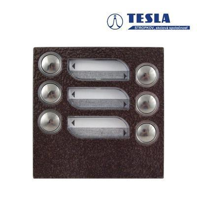Tesla KARAT měděný 6 příd. tlačítek, 2 BUS - 1