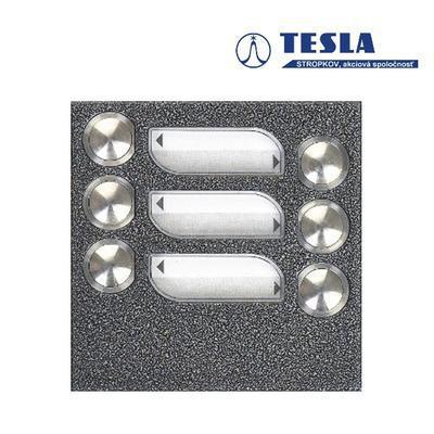 Tesla KARAT stříbrný 6 příd. tlačítek, 2 BUS - 1