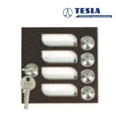 Tesla KARAT měděný 4 příd. tlačítka 1 ř., 2 BUS Z - 1
