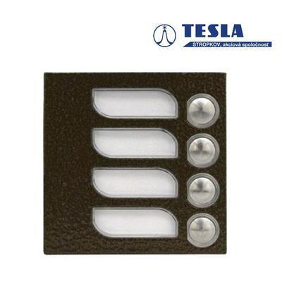 Tesla KARAT měděný 4 příd. tlačítka 1 ř., 2 BUS - 1