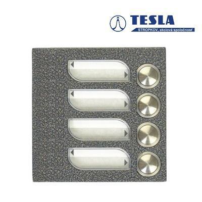 Tesla KARAT stříbrný 4 příd. tlačítka 1 ř., 2 BUS - 1