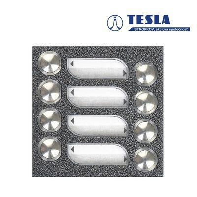 Tesla KARAT stříbrný 8 příd. tlačítek, 2 BUS - 1