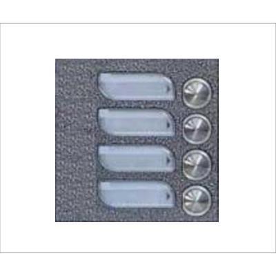 Tesla KARAT UDV stříbrný 4 příd. tlačítka 1 ř./N - 1