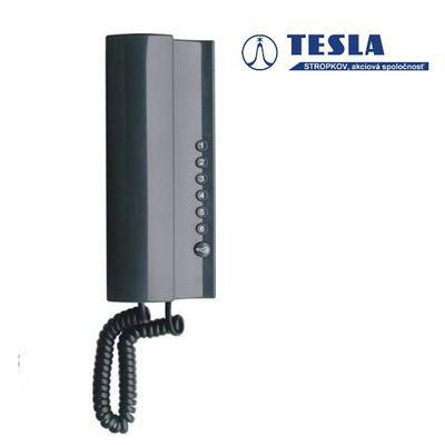Tesla Elegant antracit 1 + 6 tlačítek - 2 BUS - 1
