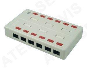 Zásuvkový box 12xRJ45 c5e - 1