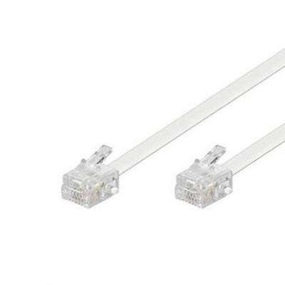 Telefonní kabel 2m bílý - 1