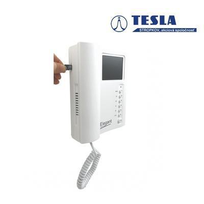 Tesla - ELEGANT videotelefon s pamětí bílý 2 BUS b - 1