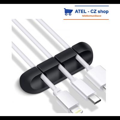 Držák kabelů 3p silikonový černý - 1