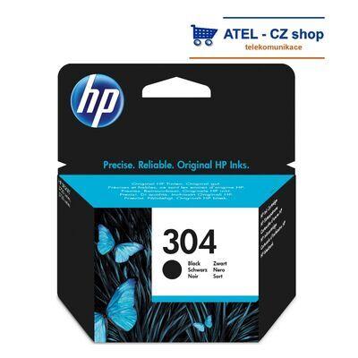 HP 304 černá inkoustová cartridge, 4ml - 1