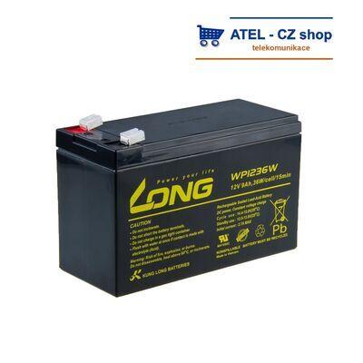 Baterie 12V/7Ah Long WP7- Faston 250 - 1