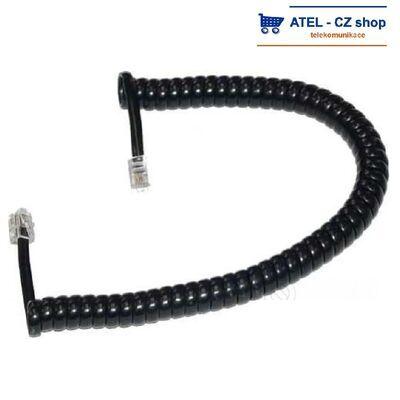 Mikrotelefonní šňůra kroucená 2m - černá - 1