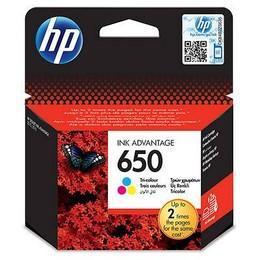 HP 650 CZ102AE tříbarevná inkoustová kazeta - 1