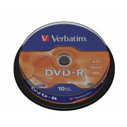 Verbatim DVD-R Matt Silver 10 ks spindle - 1