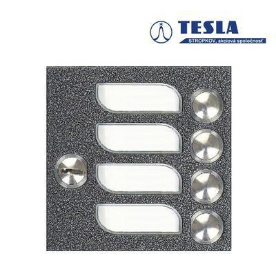 Tesla KARAT stříbrný 4 příd. tlačítka 1ř., 2 BUS Z - 2