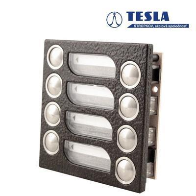 Tesla KARAT měděný 8 příd. tlačítek, 2 BUS - 2