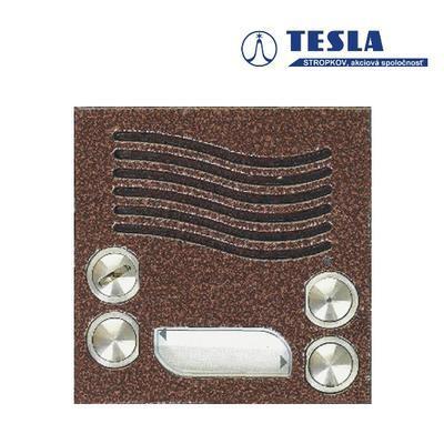 Tesla KARAT měděný, video 2 tlačítka, 2 BUS - 2