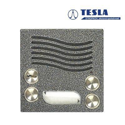Tesla KARAT stříbrný, video 2 tlačítka, 2 BUS - 2