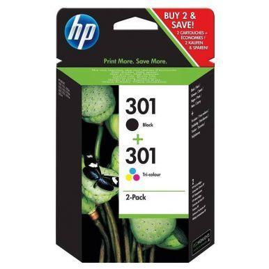 HP 301 combo pack (černá + barená) - 2