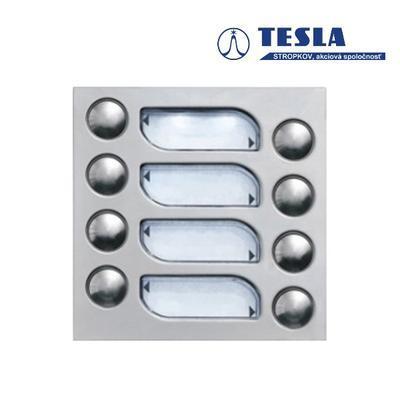 Tesla KARAT nerez 8 příd. tlačítek, 2 BUS - 2
