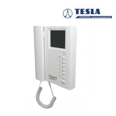 Tesla - ELEGANT videotelefon s pamětí bílý 2 BUS b - 2