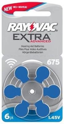Varta Rayovac Extra Advanced 675 AUX - 6 ks. - 2