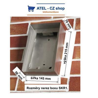 Dveřní linkový komunikátor krabice KK-1 - 2