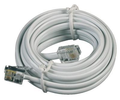 Telefonní kabel 5m bílý - 2