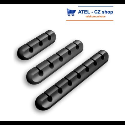 Držák kabelů 5p silikonový černý - 2