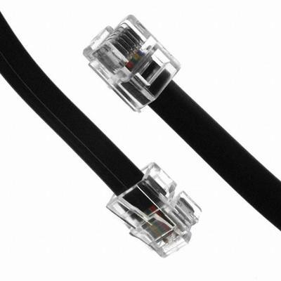 Telefonní kabel 6m černý - 2