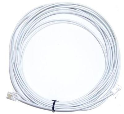 Telefonní kabel 6m bílý - 2