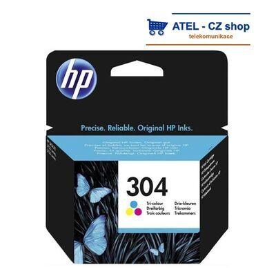 HP 304 barevná inkoustová cartridge, 2ml - 2