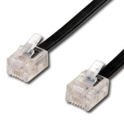 Telefonní kabel 7m černý - 2