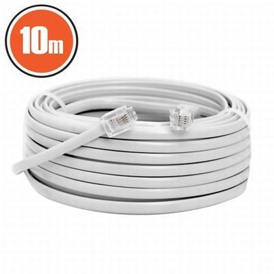Telefonní kabel 10m bílý - 2
