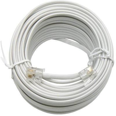 Telefonní kabel 20m bílý - 2