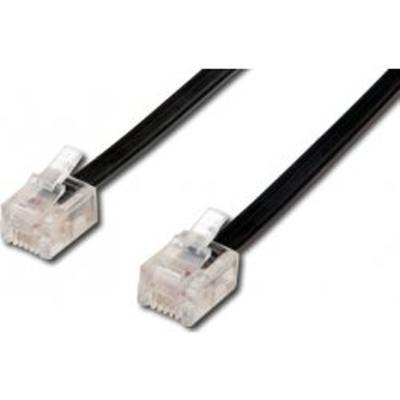Telefonní kabel 20m černý - 2