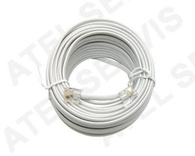 Telefonní kabel 50m bílý - 2
