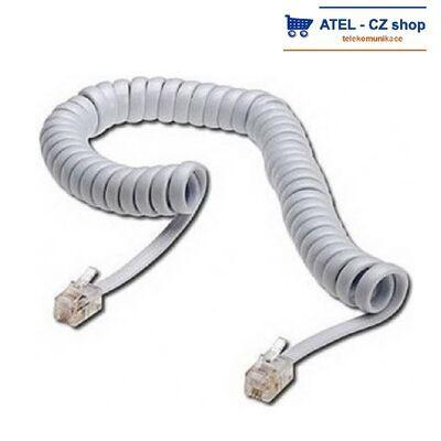 Mikrotelefonní šňůra kroucená 2m - bílá - 2
