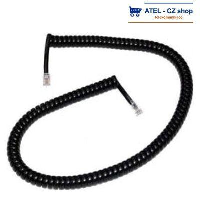 Mikrotelefonní šňůra kroucená 4m - černá - 2