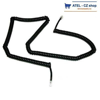 Mikrotelefonní šňůra kroucená 6m - černá - 2