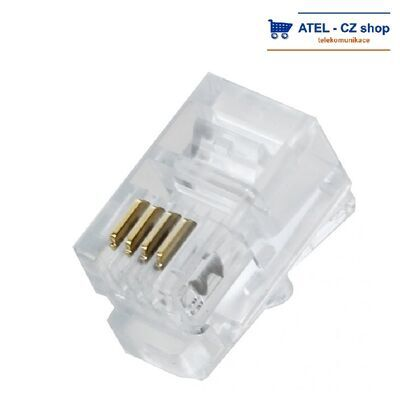 Konektor RJ9 4/4 sluchátkový - 2